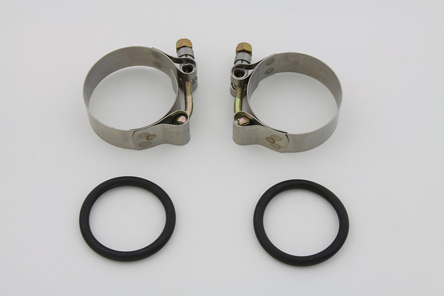 Polished Intake Manifold Clamp Set