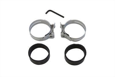 Chrome Intake Manifold Clamp Set