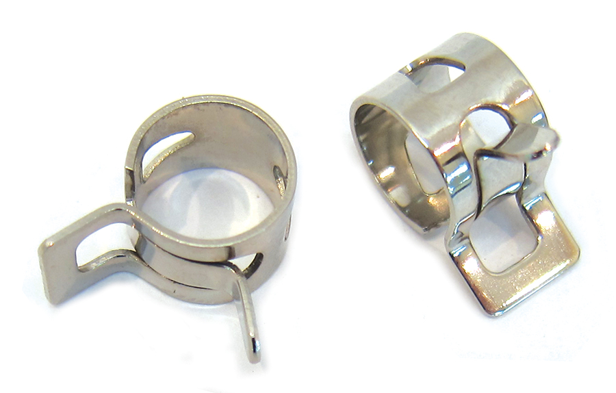 Nickel Plated Oil Line Hose Clamp