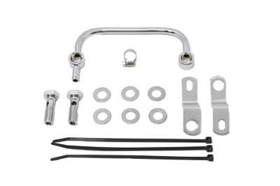Carburetor Breather Manifold Kit Chrome