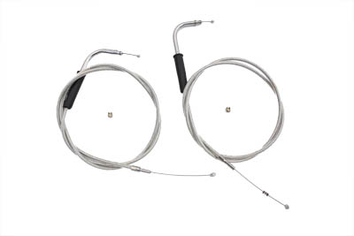 "46-1/4"" Stainless Steel Throttle and Idle Cable Set"