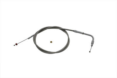 "Braided Stainless Steel Throttle Cable with 42.50"" Casing"