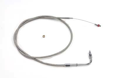 "39"" Braided Stainless Steel Idle Cable"