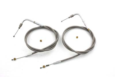 "42"" Stainless Steel Throttle and Idle Cable Set"