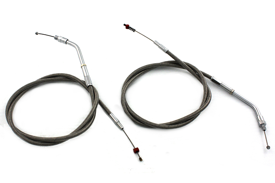 Stainless Steel Throttle and Idle Cable Set