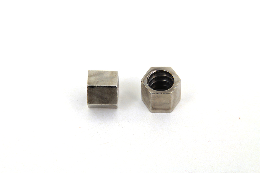 Nickel Throttle Cable Nut Set