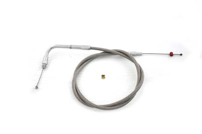 "35"" Braided Stainless Steel Throttle Cable"
