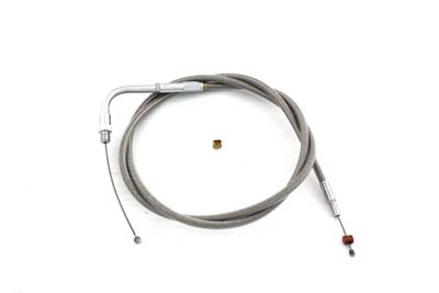 "43.25"" Braided Stainless Steel Throttle Cable"