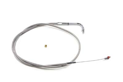 "42.875"" Braided Stainless Steel Idle Cable"