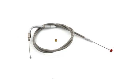 "*UPDATE 35.25"" Braided Stainless Steel Throttle Cable"