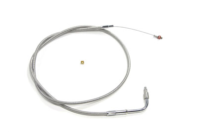 "43.25"" Braided Stainless Steel Idle Cable"