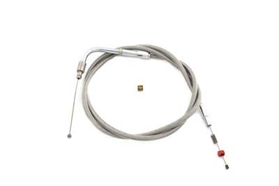 "Braided Stainless Steel Idle Cable with 41.75"" Casing"