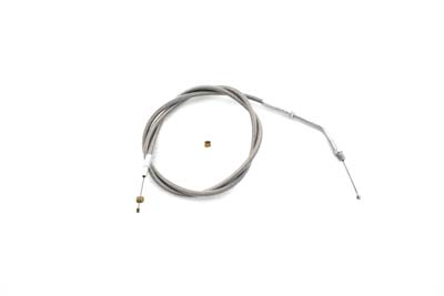 "Braided Stainless Steel Throttle Cable with 38"" Casing"