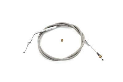 "Braided Stainless Steel Idle Cable with 38"" Casing"