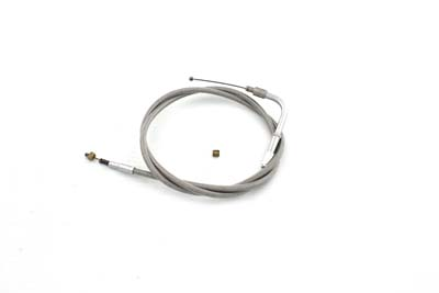 "Braided Stainless Steel Idle Cable with 42"" Casing"
