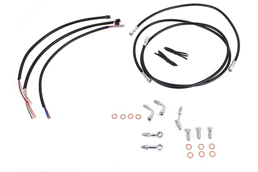 """12""""-14"""" Handlebar Cable and Brake Line Kit"""