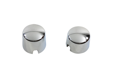 Chrome Rear Axle Nut Cover Set