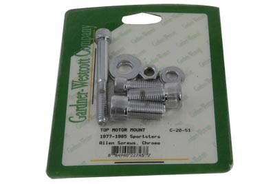 Top Motor Mount Bolt Kit Chrome