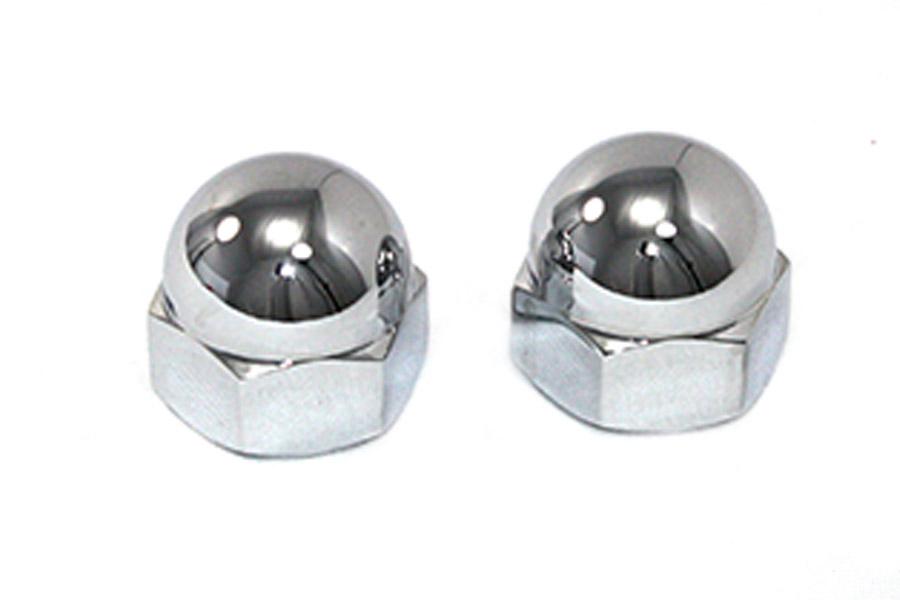 Chrome Axle Nut Kit Acorn Style
