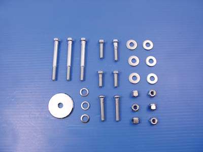 Chrome Engine Mount Bolt Set