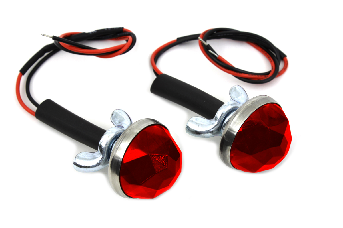 Red LED Reflector Set