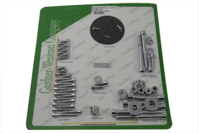 Chrome Allen Head Engine Dress Up Screw Kit