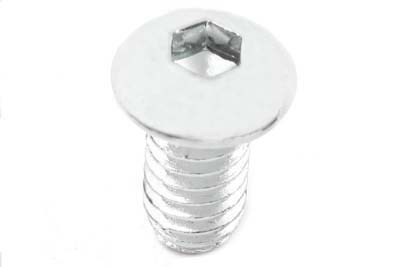 "Allen Button Head Screws Chrome 1/4"" X 2-5/8"""