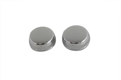 *UPDATE Frame Cover Chrome Knurled Knob Set