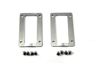 Polished Stainless Steel Rear Axle Protector Plates