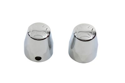Chrome Rear Axle Nut Caps Maltese Style