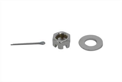 Chrome Axle Nut Kit Castle Style 5/8 - 18 UNF