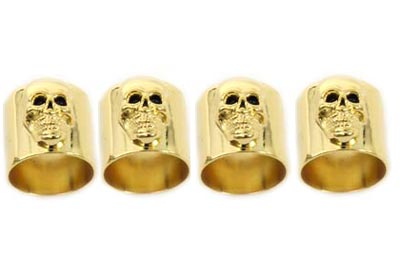 *UPDATE Skull Pushrod Cover Cup Set Gold