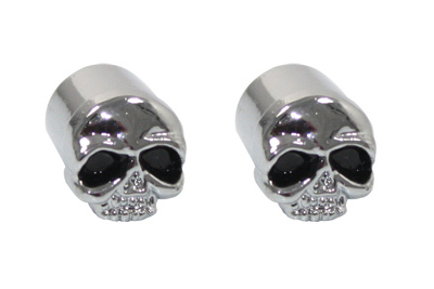 Skull Valve Stem Cover Chrome