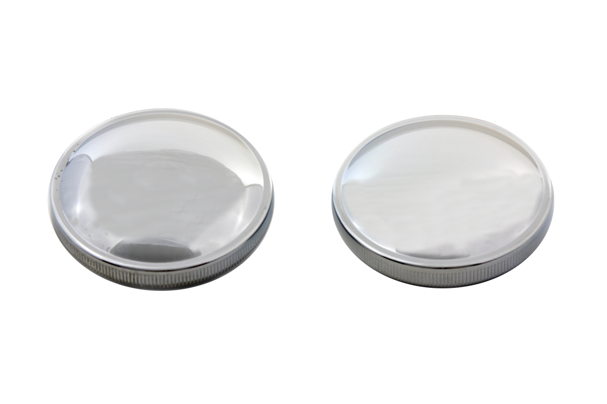 Stock Style Gas Cap Set Vented and Non-Vented Chrome