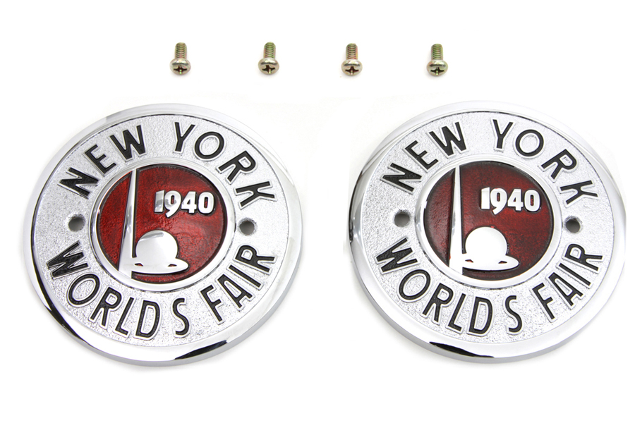 1940 World's Fair Round Tank Emblem Set