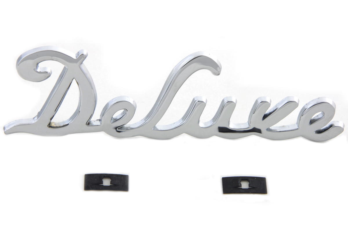 "Chrome ""Deluxe"" Fender Emblem Set"