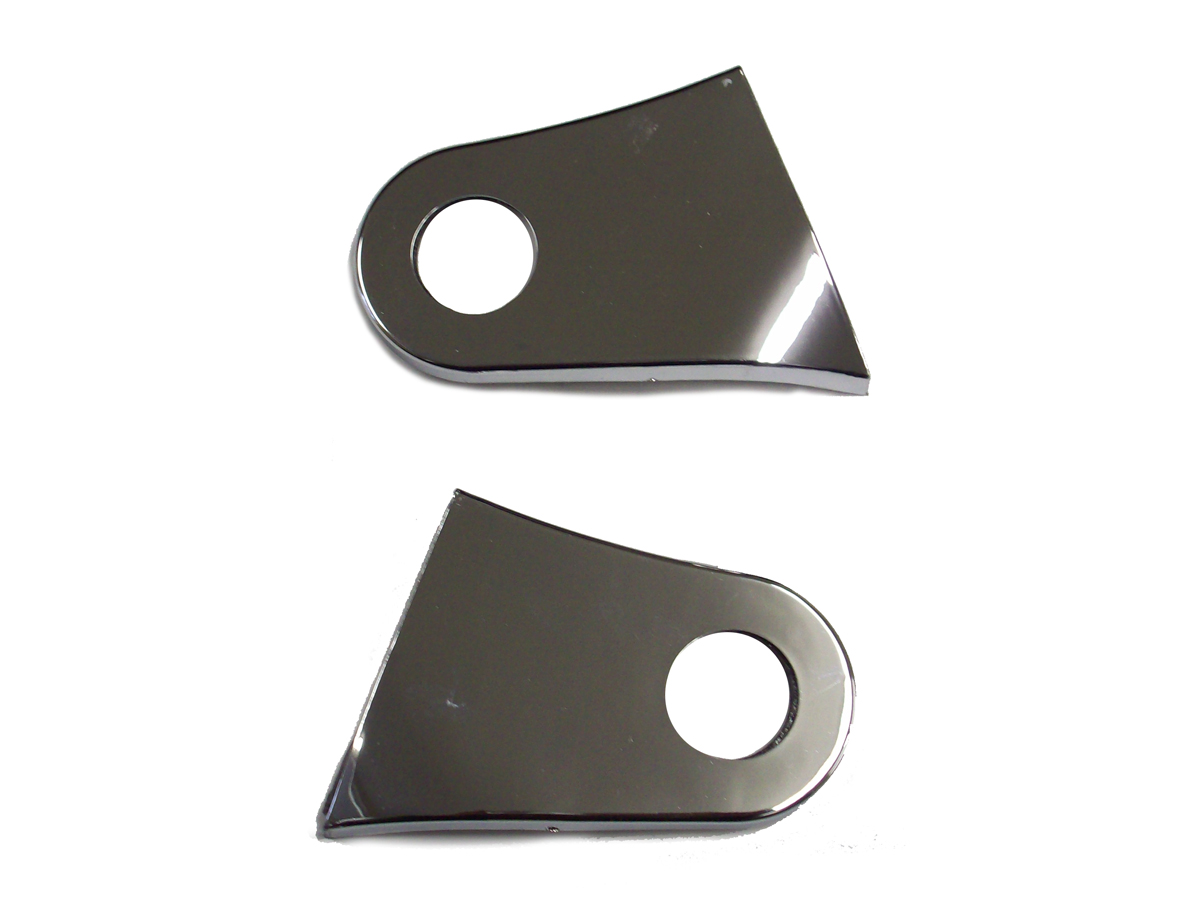 Chrome Gas Tank Bracket Cover Set