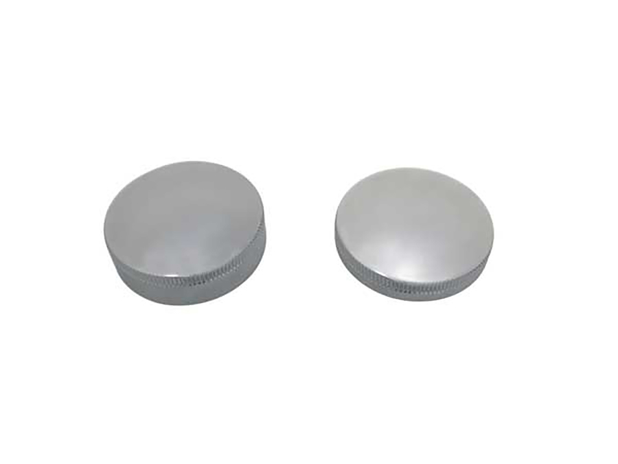 Gas and Oil Cap Set Chrome