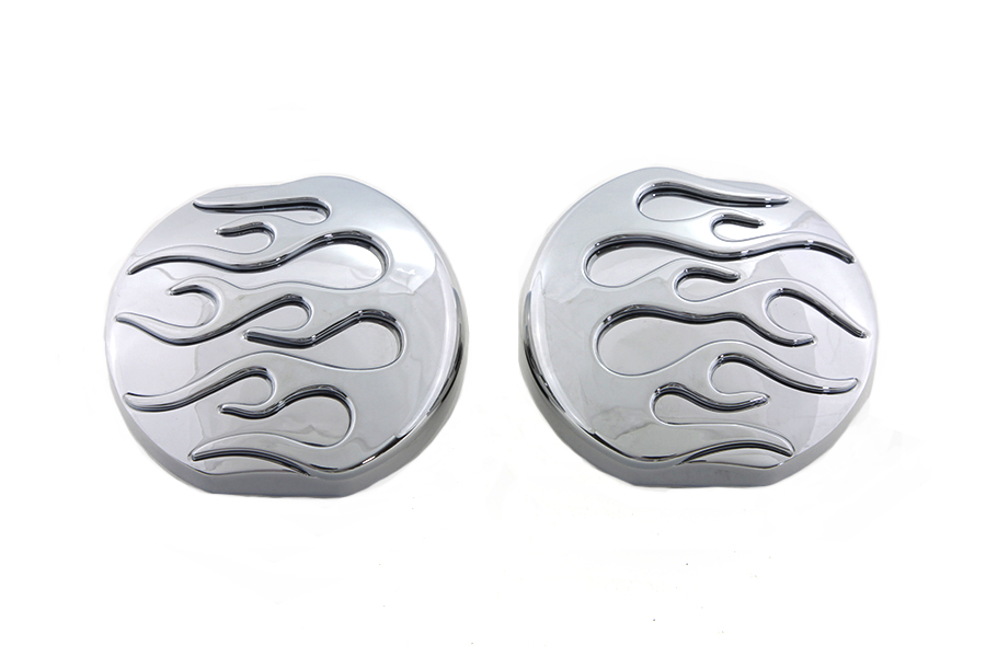 Chrome Flame Style Vented and Non-Vented Gas Cap Set