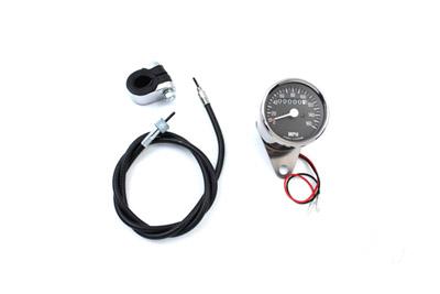 Mini 48mm Speedometer with 2240:60 Ratio for Custom Harley