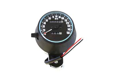 Speedometer Black Plastic Style 2:1