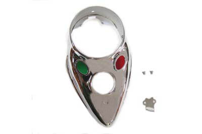 Chrome Replica Cateye Dash Panel