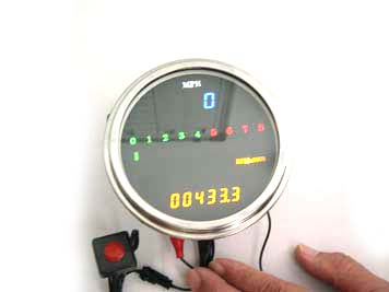 LED Digital Speedometer and Tachometer Assembly