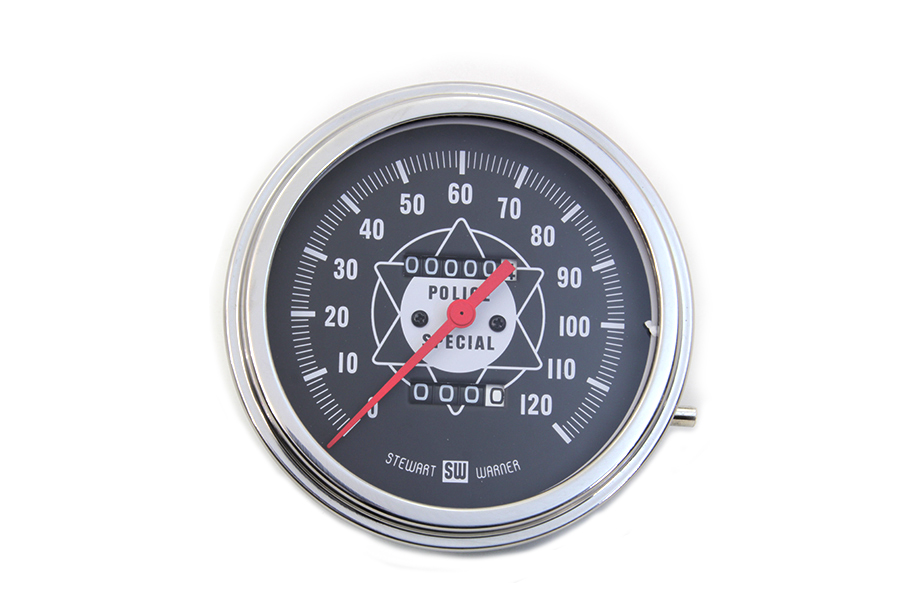 Police Speedometer With Red Needle