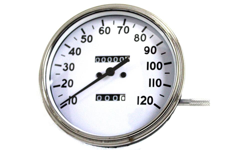 Replica 2:1 Speedometer with Black Needle