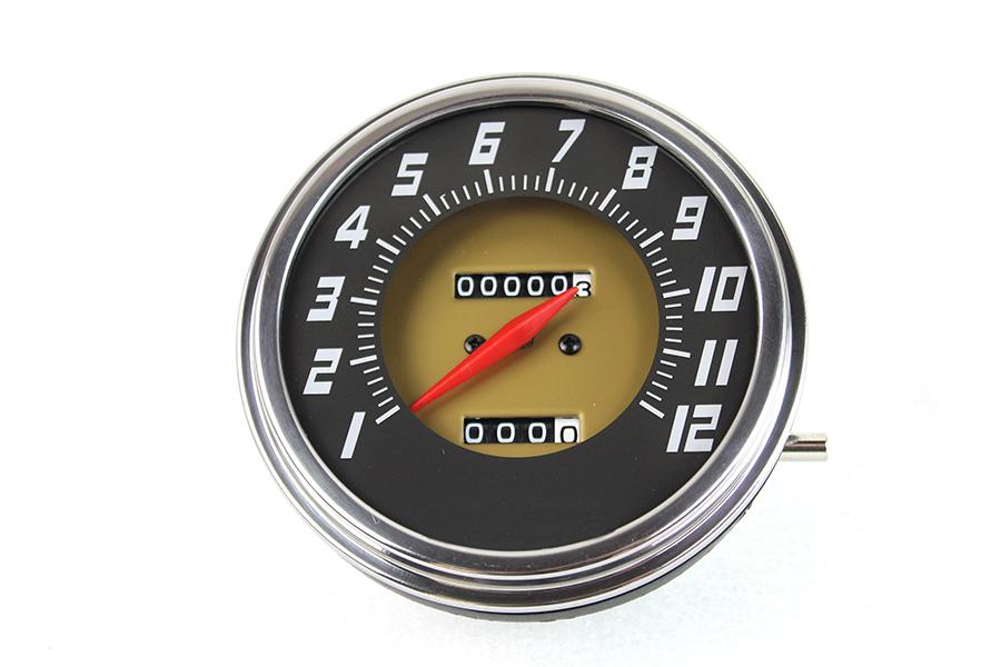 FL 2:1 Ratio Dark Grey Face Speedometer