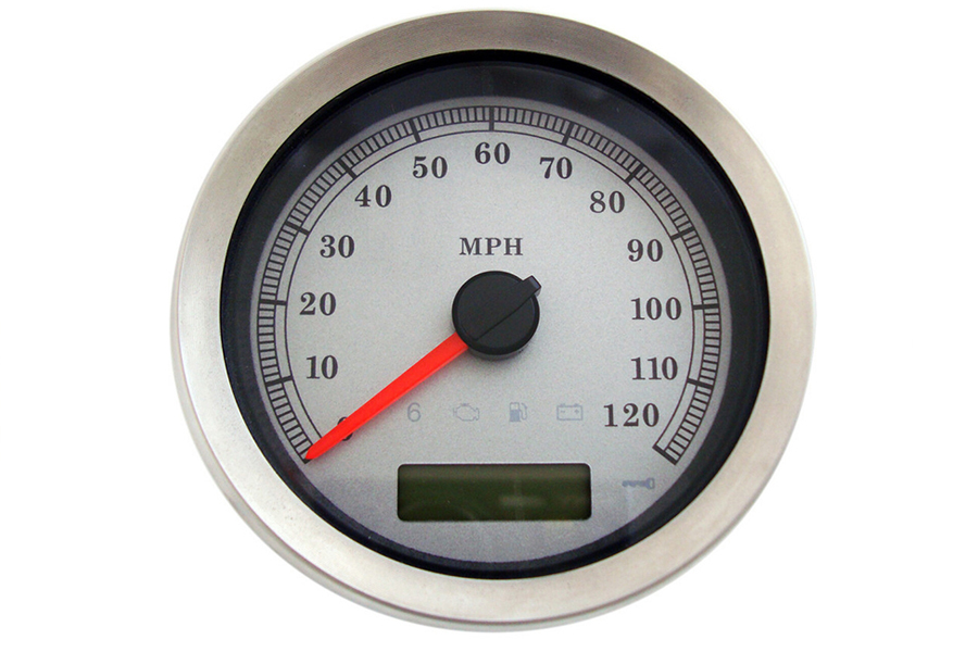 """4"""" Electronic Speedometer Assembly Silver"""