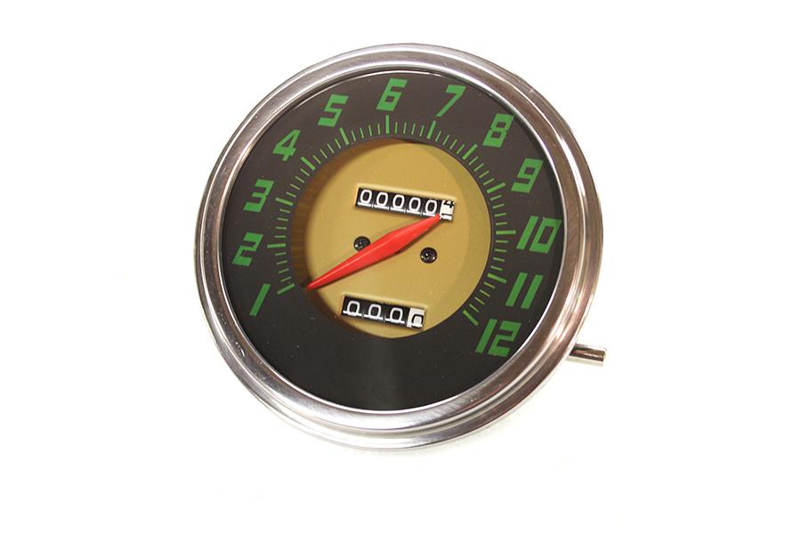 FLH 2:1 Ratio Replica Green Face Speedometer