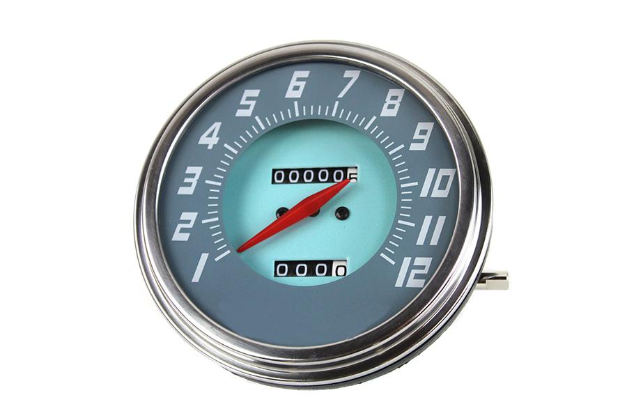 FLH 2:1 Ratio Replica Gray-Blue Face Speedometer