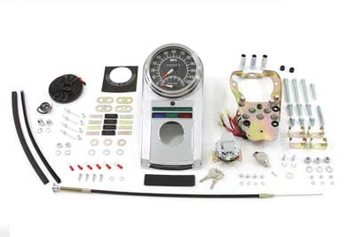 Chrome Dash Panel Kit with 1:1 Ratio Speedometer